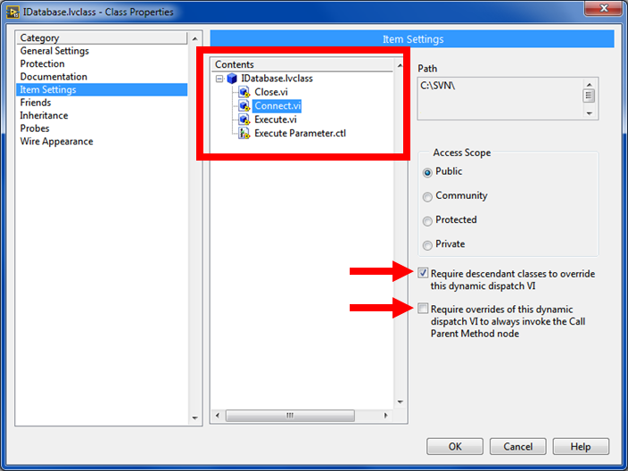 labview code reuse in object-oriented
