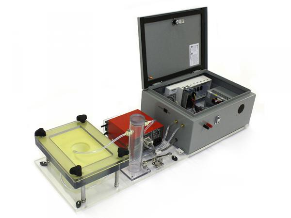 Wound simulation system for medical disposables test